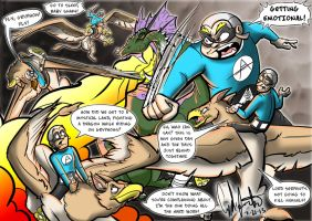 Aquabats vs. Lord Serpent colored by Gingco