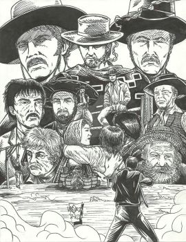 A Fistful Of Dollars Tribute-Inks w.i.p. by StevJVaz72