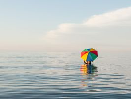 At the sea 2 by Inilein