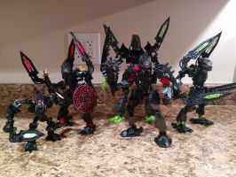 Bionicle Gen2 Skrall by andrell