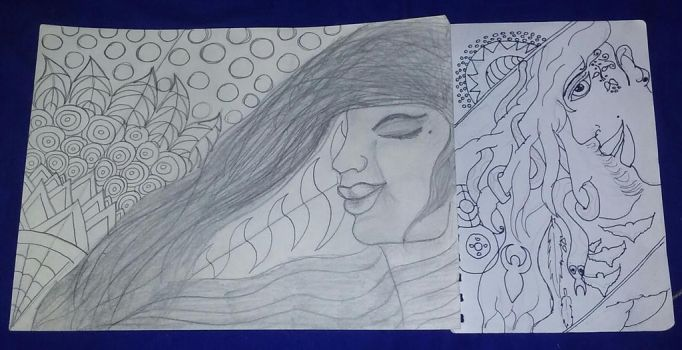Horizons - Old and New Drawings by carrie-lou