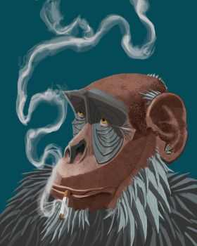 Charlie the Chimp by Pables
