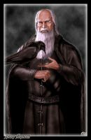 Jeor Mormont and his Raven by Amok by Xtreme1992