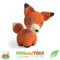 Renard Fox Amigurumi Pattern by FROG-and-TOAD
