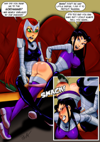 Commission: Starfire giving Blackfire payback by ashion