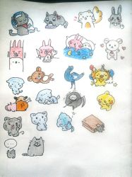 Various Messenger stickers by 1nv4l1du530