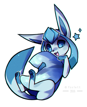 Glaceon by foxlett