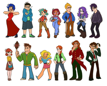 Stardew Valley Bachelors by YLvanYLAN
