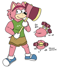 Amy Rose (AU! Version) by Critterz11