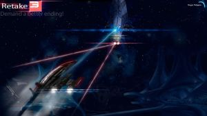 Retake Mass Effect 3 : Harbinger vs Normandy by HingjonWallpapers