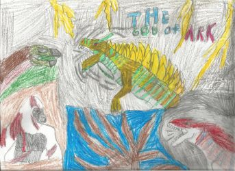 Zilla, The God Of ARK by crocodile-wolf-9000