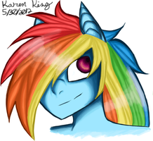 Rainbow Dash Headshot by Kiracuils