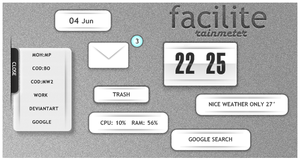 Facilite for Rainmeter by thegoodnesrus