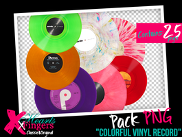 +Colorful Vinyl Record PNG's by xHeartsxFingers