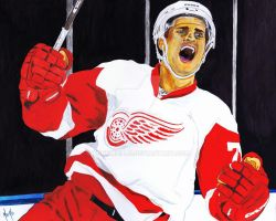 Dylan Larkin by TonyMiello