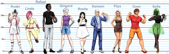 Redesign - characters comparison #1-9 by Lili-Nyklova