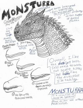 Monsturra Concept Sketches-May 9, 2017 by JacobSpencerKaiju79