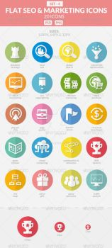 Flat SEO And Marketing Icons Pack 4 by sktdesigns