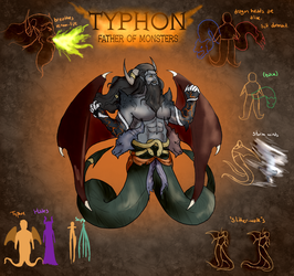 Smite Concept - Typhon, Father of Monsters by Kaiology