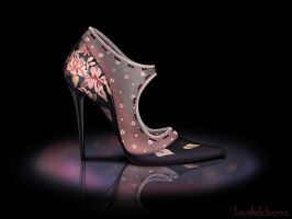 Mary Poppins Inspired Shoe - Disney Sole by becsketch