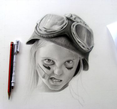 Mini Tank girl in progress by happytrenty