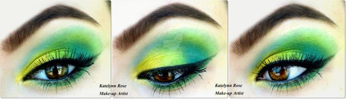 Gold, Lime green and teal + TUTORIAL by KatelynnRose
