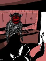 Monster in the kitchen by Velica