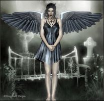 Druscilla Goth angel by fairyfreakster