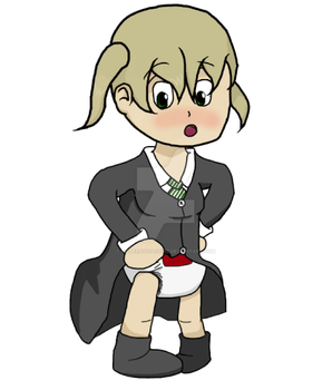 Soul Diaper - Maka Albarn by Diaperadioactive