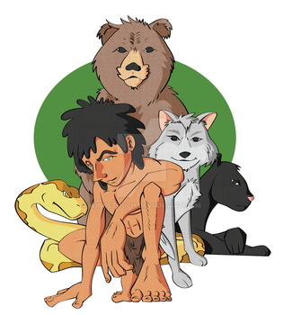 The wolf child Mowgli by winnetouch