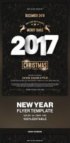 Christmas Party Flyer - 2017 Happy New Year by hemalaya