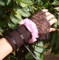 Gothic Rose Cuffs by ksmith2696