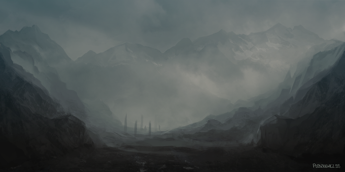 Misty mountains by mousez