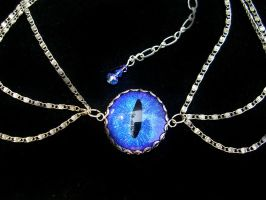 Custom for Tarlm - Bright Blue 3 Chain in Silver by LadyPirotessa