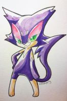Purrloin watercolor