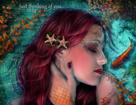 Just thinking of you by EstherPuche-Art