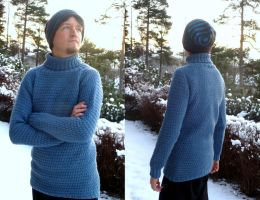 Timberjack sweater, blue by KnitLizzy