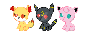 Adoptable Pokemon MLP Babies by Chimpanzee59