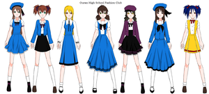 Ouran Fashion Club - Uniforms by Super-Sailor-Star