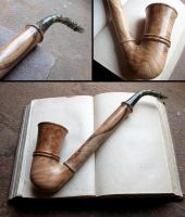 Fili's pipe olive wood version by Arcangelo-Ambrosi