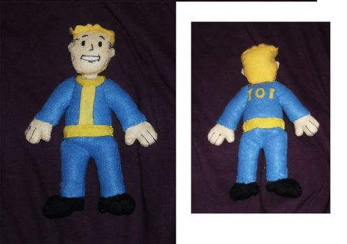 Vault Boy Plushie by DonutTyphoon