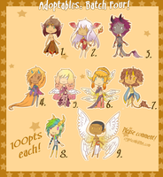 Adoptables. Batch Four { CLOSED } by CrypticInk