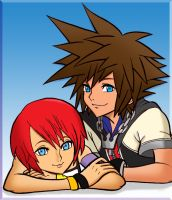 Sora and Kairi: Together by GryffinsFate
