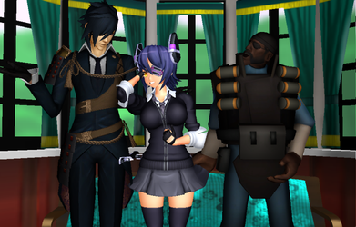[MMD] We Are Threesome EyePatches! by djlordsuzaku2