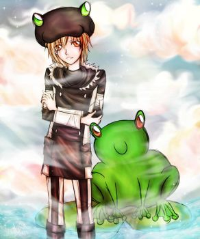 Fran and the Frog by aqiaqua