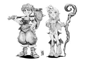 Character designs by Smolb