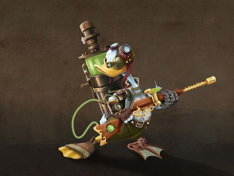 Steampunk Donald by Gaan