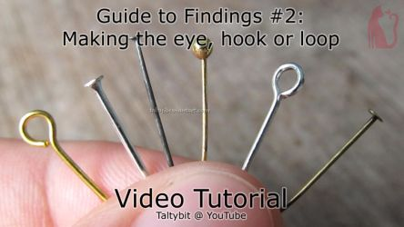 Findings #2: Making the eye, hook or loop on a pin by Talty