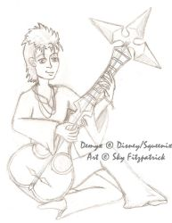 Demyx sketch by TwilightFalcon