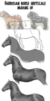 Farrosian horse greyscale (making of) by BUGHS-22